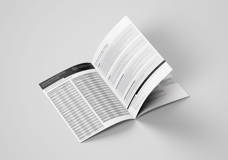 Broschüre (CMYK) mit Rückendrahtheftung, Vierfarbdruck
