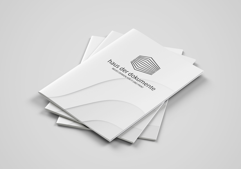 Broschüre (s/w) mit Rückendrahtheftung, Einfarbdruck